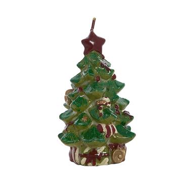 Свеча новогодняя елка 8х8х12см F10599