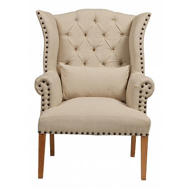 Кресло Quinn Tufted Armchair Белый Лен DG-F-ACH478
