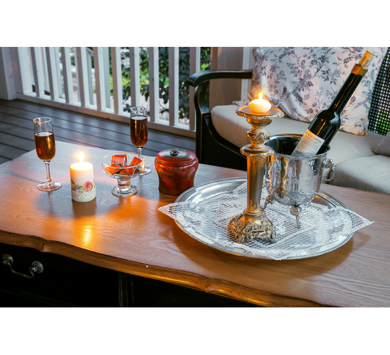 Чайный столик с двумя ящиками ST9143N