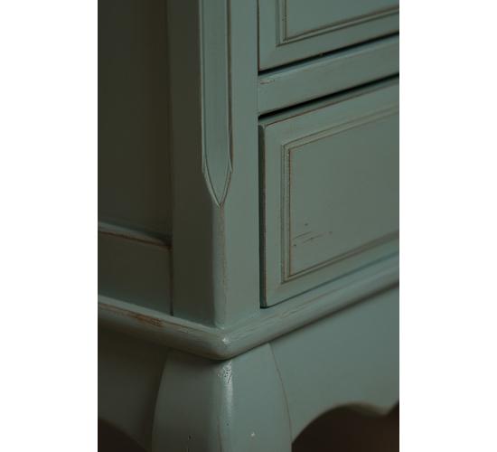 Высокий комод с 6-ю ящиками голубой