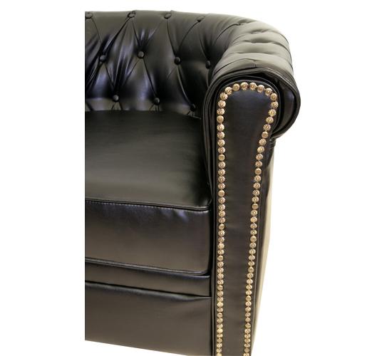 Кожаный трехместный диван Karo