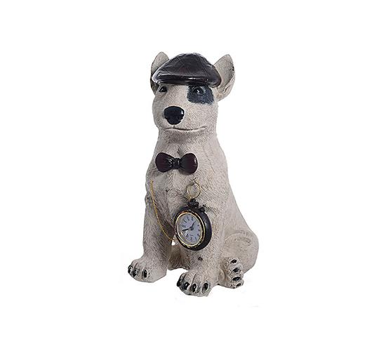Собака Терьер с часами 110206