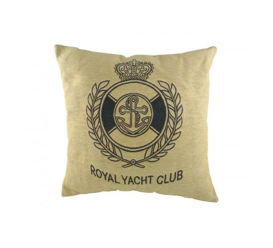 Подушка с надписью Royal Yacht Club Natural