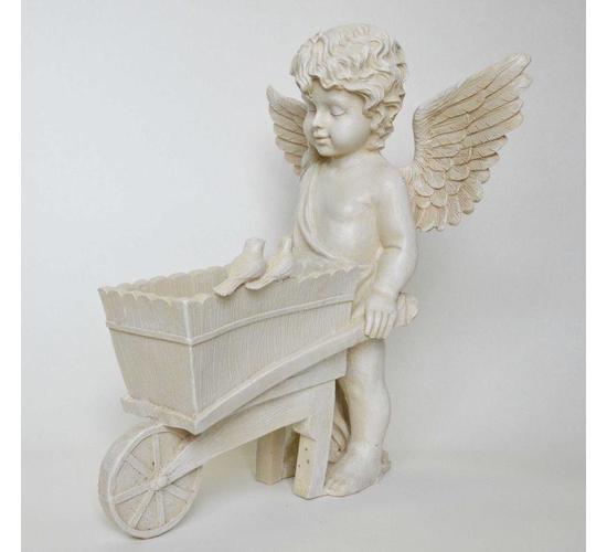 Фигурка Ангел с тележкой 29*38 см