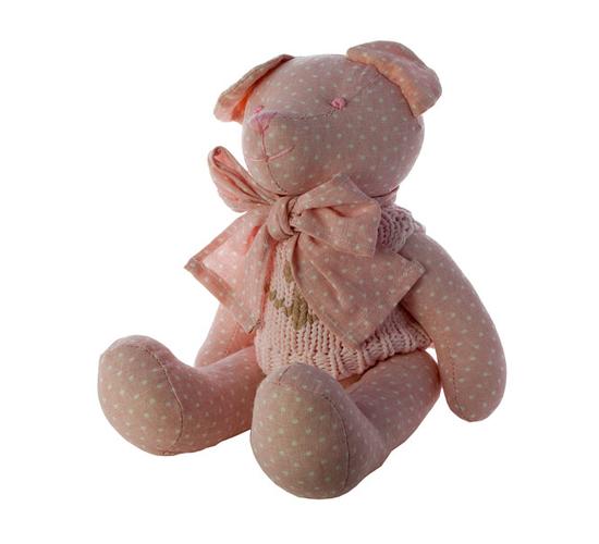 Мишка в свитере розовый 40 см. J1104001H