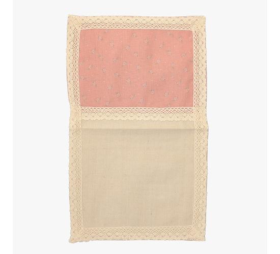 Cалфетка из льна с кружевом Розовый прованс (от 2-х шт.) 30х45см
