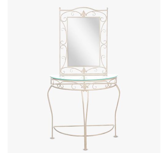 Консоль с зеркалом Белый ажур