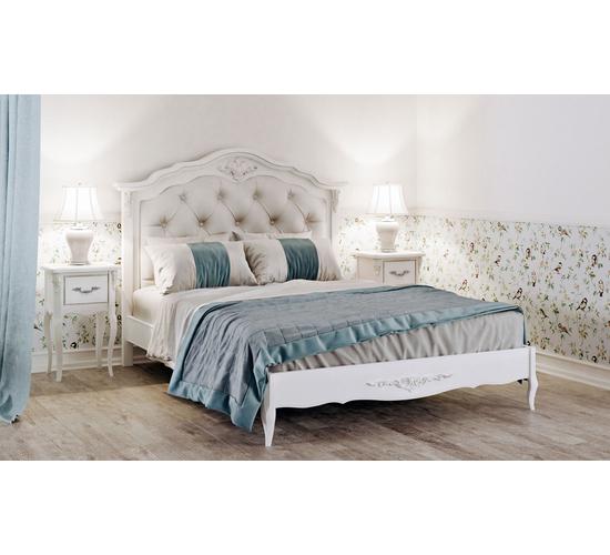 Кровать с мягким изголовьем 180*200 Silvery Rome