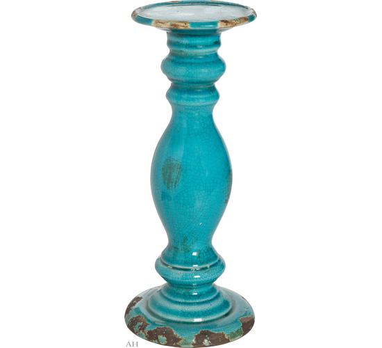 Подсвечник D11,5 см х 27 см 66296-BLUE