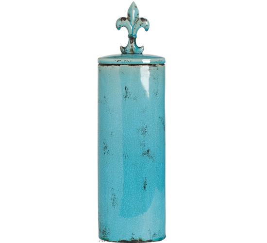Ваза с крышкой 16,5 х 11 х 58 см, 66639-BLUE