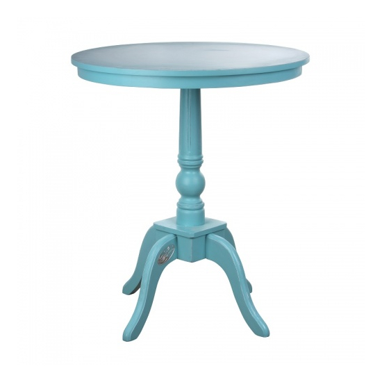 Стол круглый бирюзовый 65х65х77 LW08-0001B