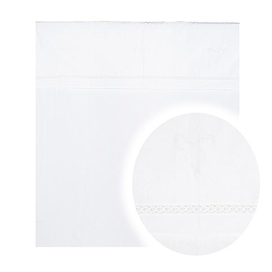 Штора белая с сердечком от 2 шт 2536-119F(штора)