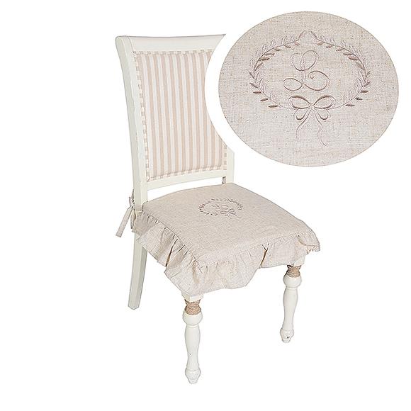 Подушка для стула бежевая 3422C-22M (сидушка)
