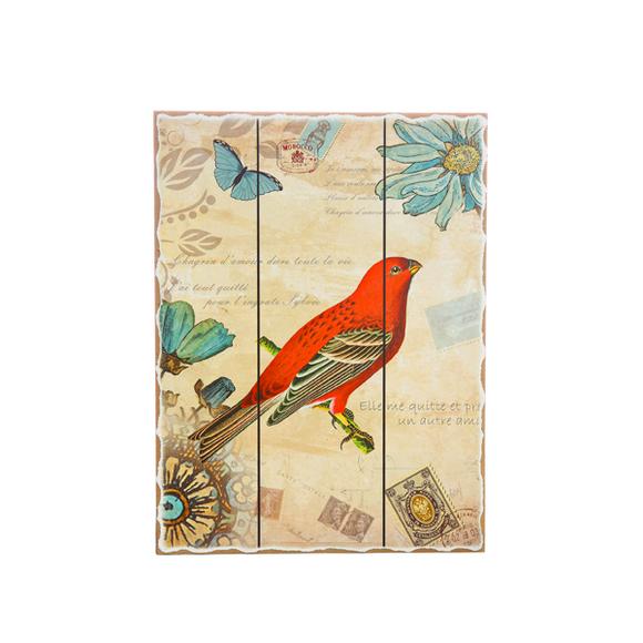 Панно красная птица H2/1