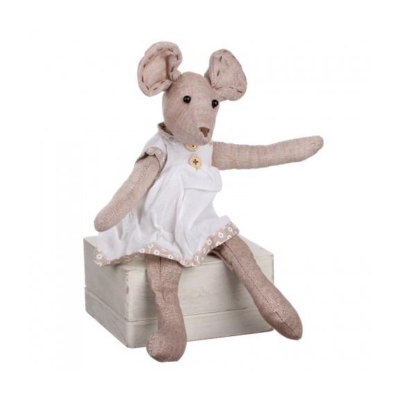 Сидящая мышка (девочка) 9х5х17см LJ87-0013