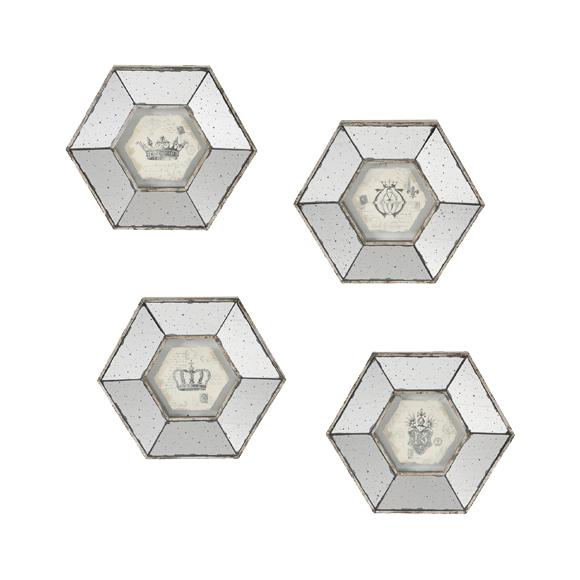 Набор панно настенных декоративных с зеркальным покрытием 4 шт. 32656
