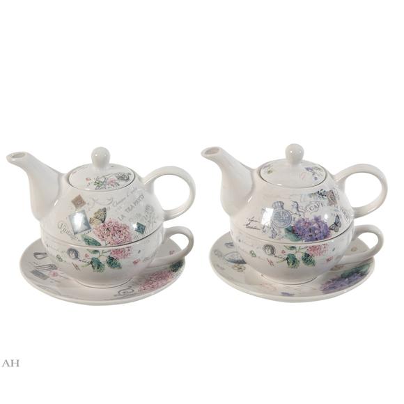 Набор - чайник с чашкой и блюдцем (2 шт), 69030