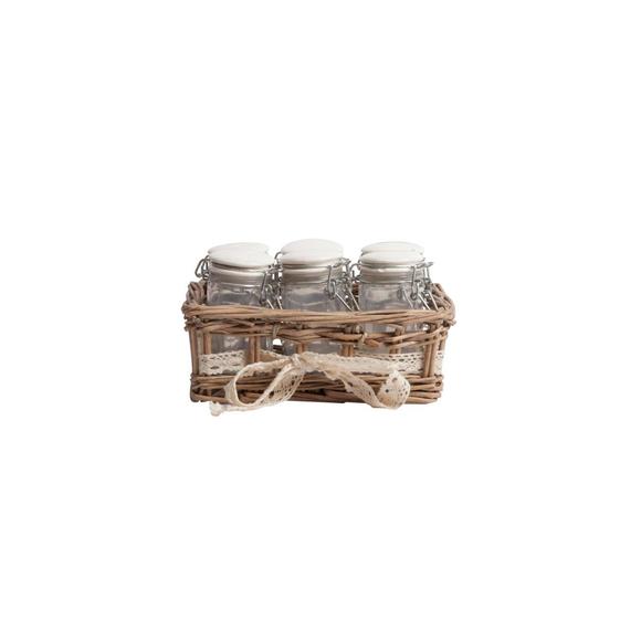 Набор для хранения в плетеной корзинке Appolto