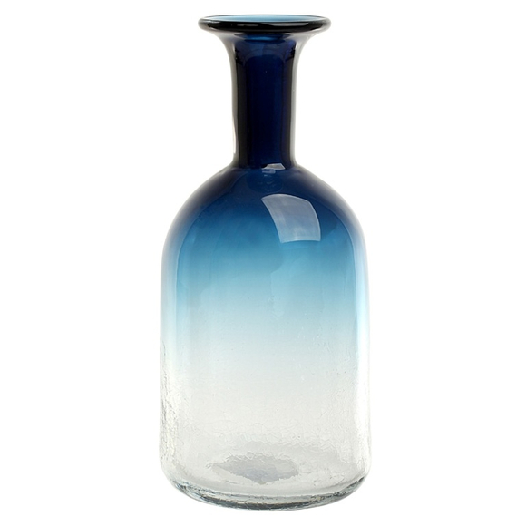 Ваза стеклянная (ручная работа) H32 MaxØ 15 см