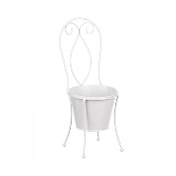 Кашпо- стульчик 11х11х30,5см IU08-0007